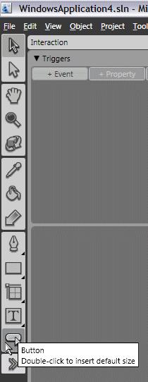 Toolbox, insert a button