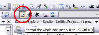 Button 'Format the whole document'