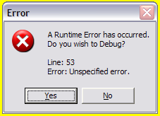 Error message 1