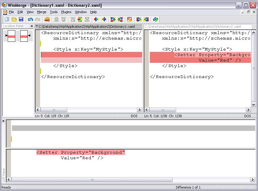 WinMerge, merging tool